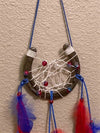 Large Red, White & Blue Horse Shoe Dream Catcher