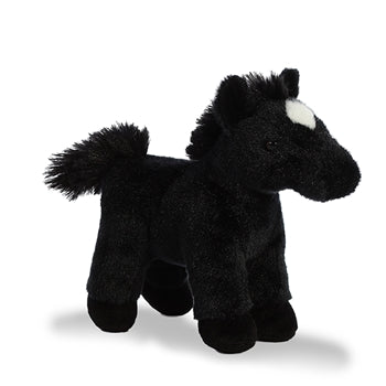 Midnight the Stuffed Black Horse with Sound