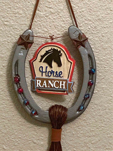 Horse Ranch Decorated Horse Shoe