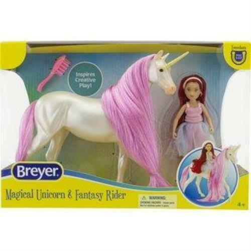 Breyer Horses Classics Magical Unicorn Sky and Fantasy Rider, Meadow
