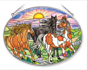 Wild Mustangs Sun Catcher