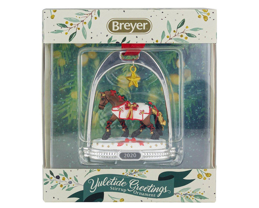 YULETIDE GREETINGS HOLIDAY HORSE | STIRRUP ORNAMENT