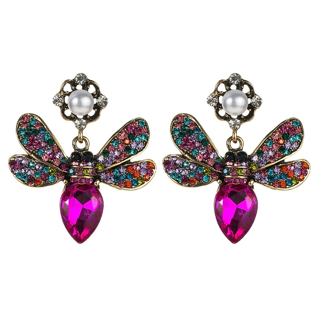 LIBELULA MAGENTA EARRINGS