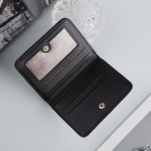 Load image into Gallery viewer, Leather Multi-Card Short Bifold Wallet