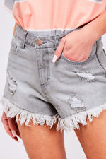 Girlfriend Denim Shorts - Perfectly Posh Boutique