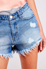 Girlfriend Denim Shorts