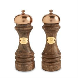COPPER & WOOD SALT & PEPPER MILL SET - Perfectly Posh Boutique
