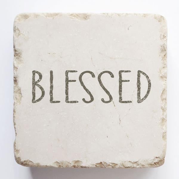 Twelve stone art-small block-Blessed
