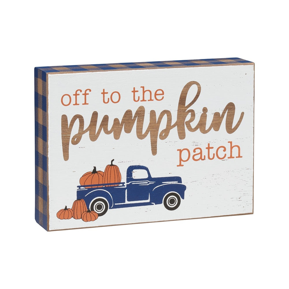 Pumpkin Patch Blue Truck Sign - Perfectly Posh Boutique