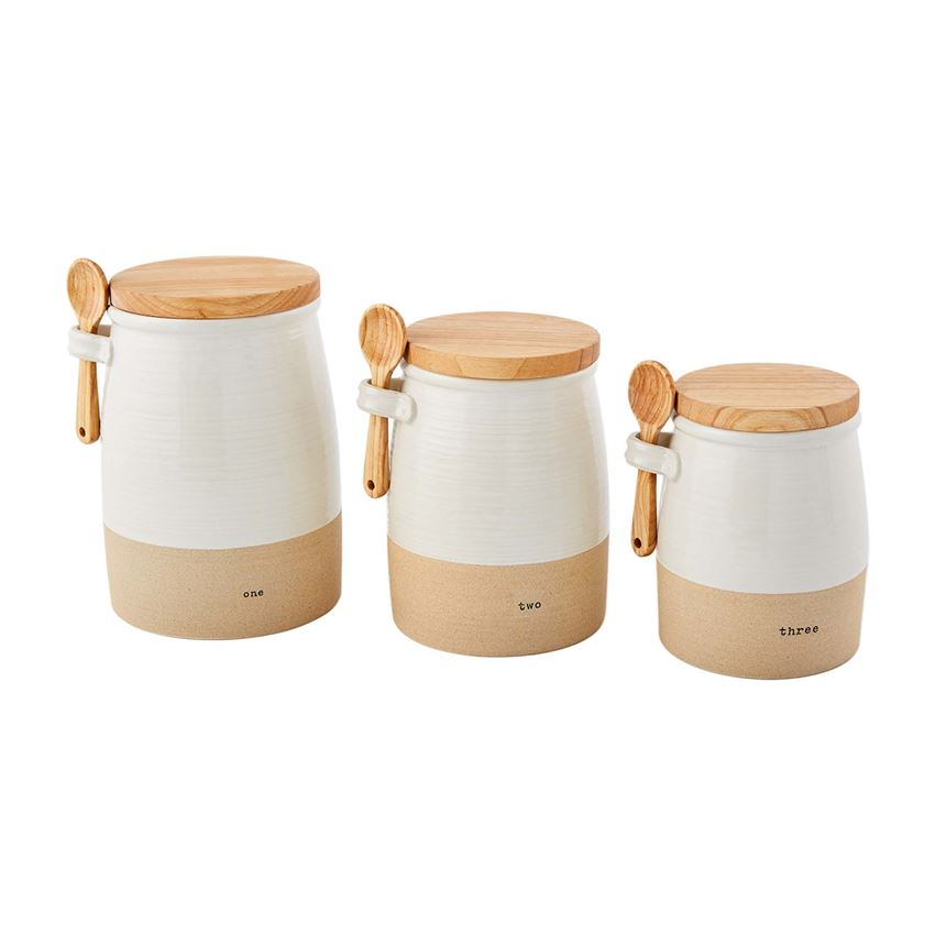 Stoneware Canister Set - Perfectly Posh Boutique
