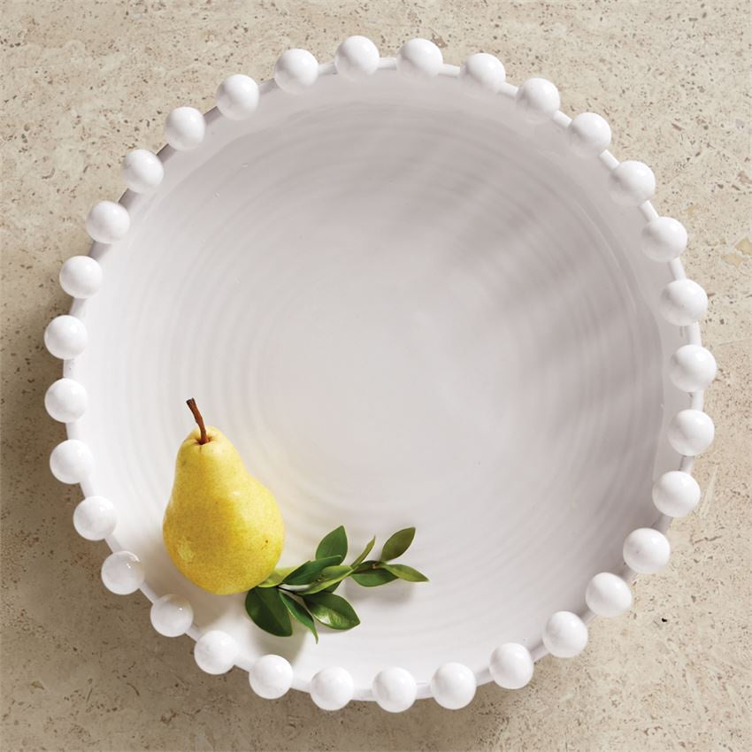 Raised dotted rim platter - Perfectly Posh Boutique