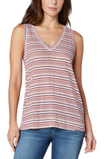 Sleeveless V-neck Knit Tank