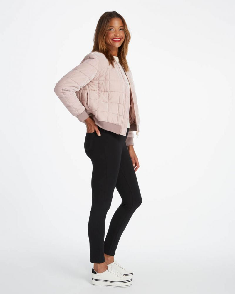 The perfect black pant, ankle 4-pocket skinny in ponte