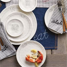 BISTRO SENTIMENT SALAD PLATES
