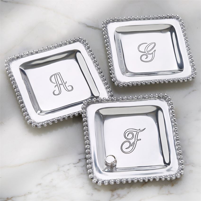 Initial metal trinket tray - Perfectly Posh Boutique