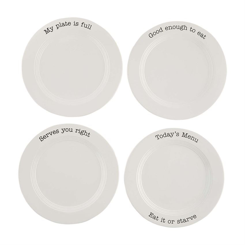 Table for 4 Dinner Plates