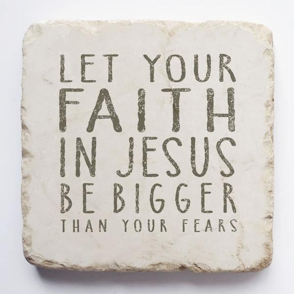 Twelve stone art-large block-Let your faith