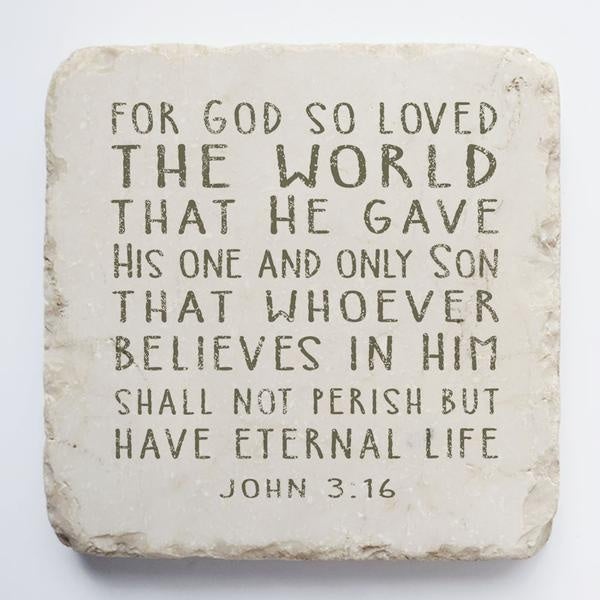 Twelve stone art-small block-John 3:16