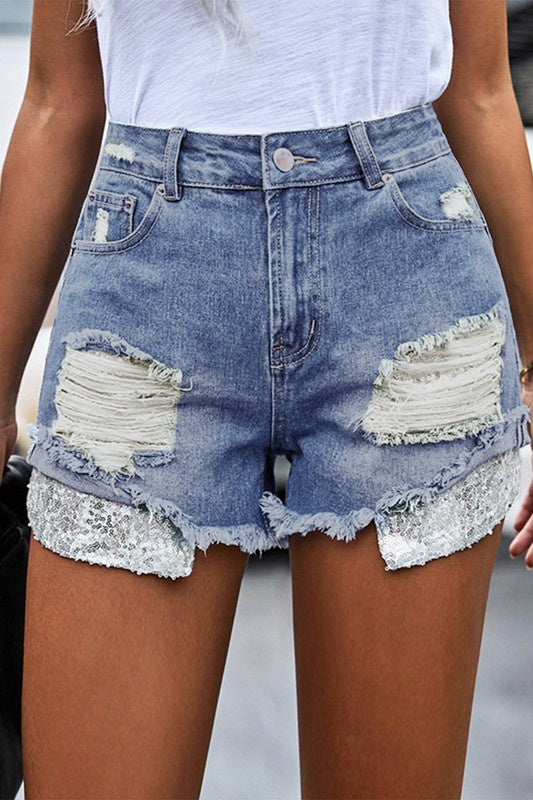 Kenzie Sequin Shorts