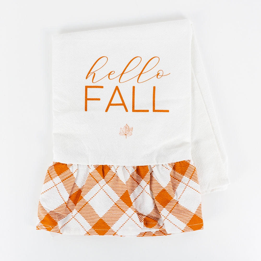 Hello Fall Dish Towel - Perfectly Posh Boutique
