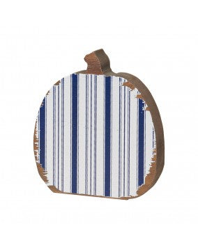 White Striped Pumpkin Cutout