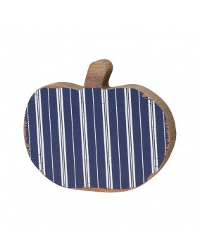 Blue Striped Pumpkin Cutout