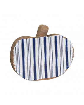 White Striped Pumpkin Cutout - Perfectly Posh Boutique