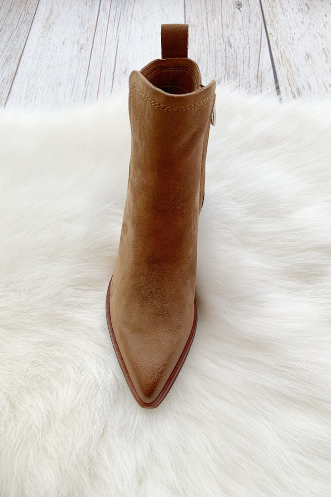Sammey Booties in Teak Nubuck - Perfectly Posh Boutique
