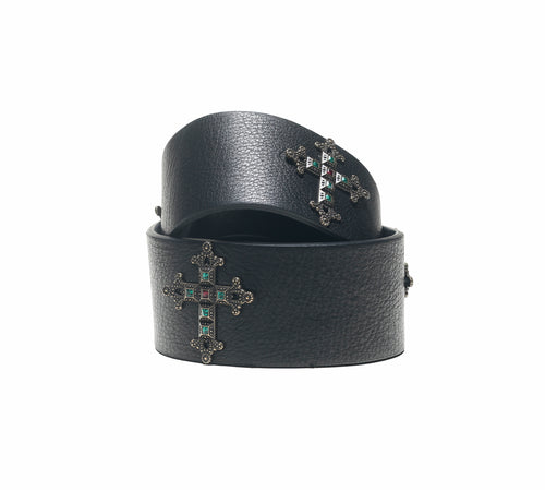 ROMA BELT IN BLACK LEATHER