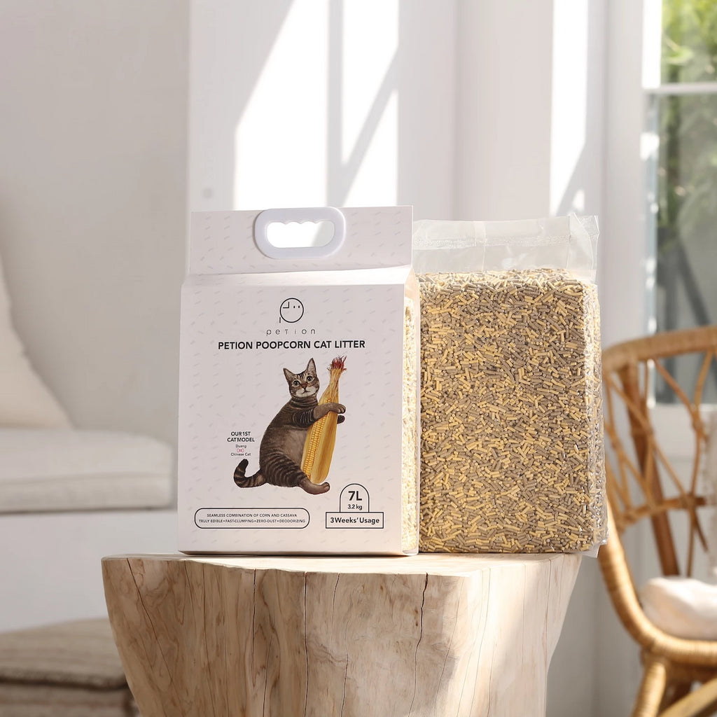 Poopcorn™ Cat Litter - World's Most Natural Cat Litter Made of Corn and Cassava Starch