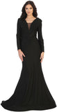 EVENING GOWN LONG SLEEVE & PLUS SIZE