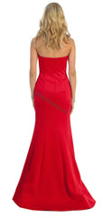 Long Strapless Taffeta Dress- LARQ7305