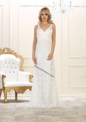 Shoulder Straps Sequins & Lace Bridal Dress- RQ7470B