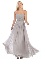 Popular Strapless Bridesmaid Dress