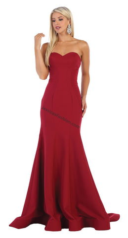 Strapless Full Length Ity Dress- LARQ7703