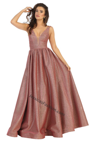Shoulder Straps Long Ity Dress With Side Pockets- LARQ7748