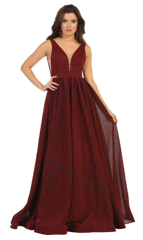 Shoulder Straps Low Back Long Ballgown- LARQ7753