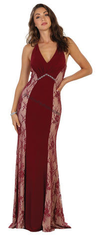 Halter Lace Long Ity Dress- MQ1517