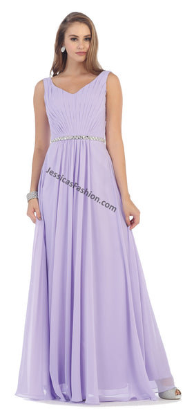 Shoulder Straps Sequins Chiffon PLUS Size Dress- LAMQ1400