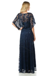 Shoulder Straps Sequins Chiffon Dress With Bolero Jacket- LA5155