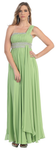 A Dazzling One Shoulder Strap Plus Size Gown- LAMQ748