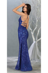 Sexy Open Back Sequined Dress - Dress