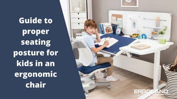 Guide to proper seating posture for kids in an ergonomic chair image