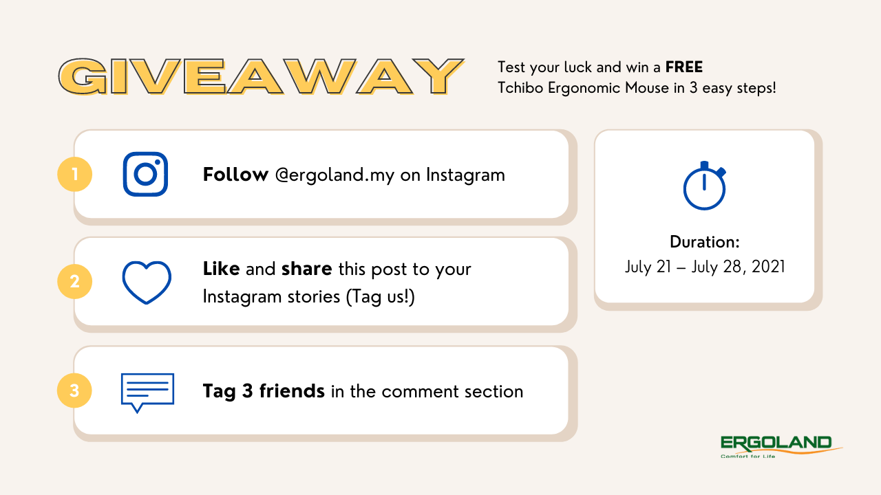 Ergoland giveaway contest rules