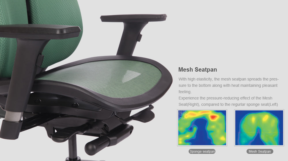 Alpha ergonomic chair features tension adjustment