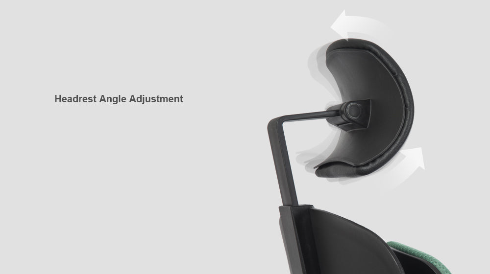 Alpha ergonomic chair features angle adjustment