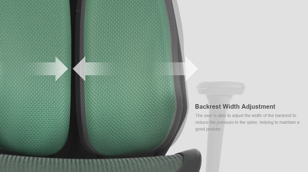 Alpha ergonomic chair features backrest adjustment 2