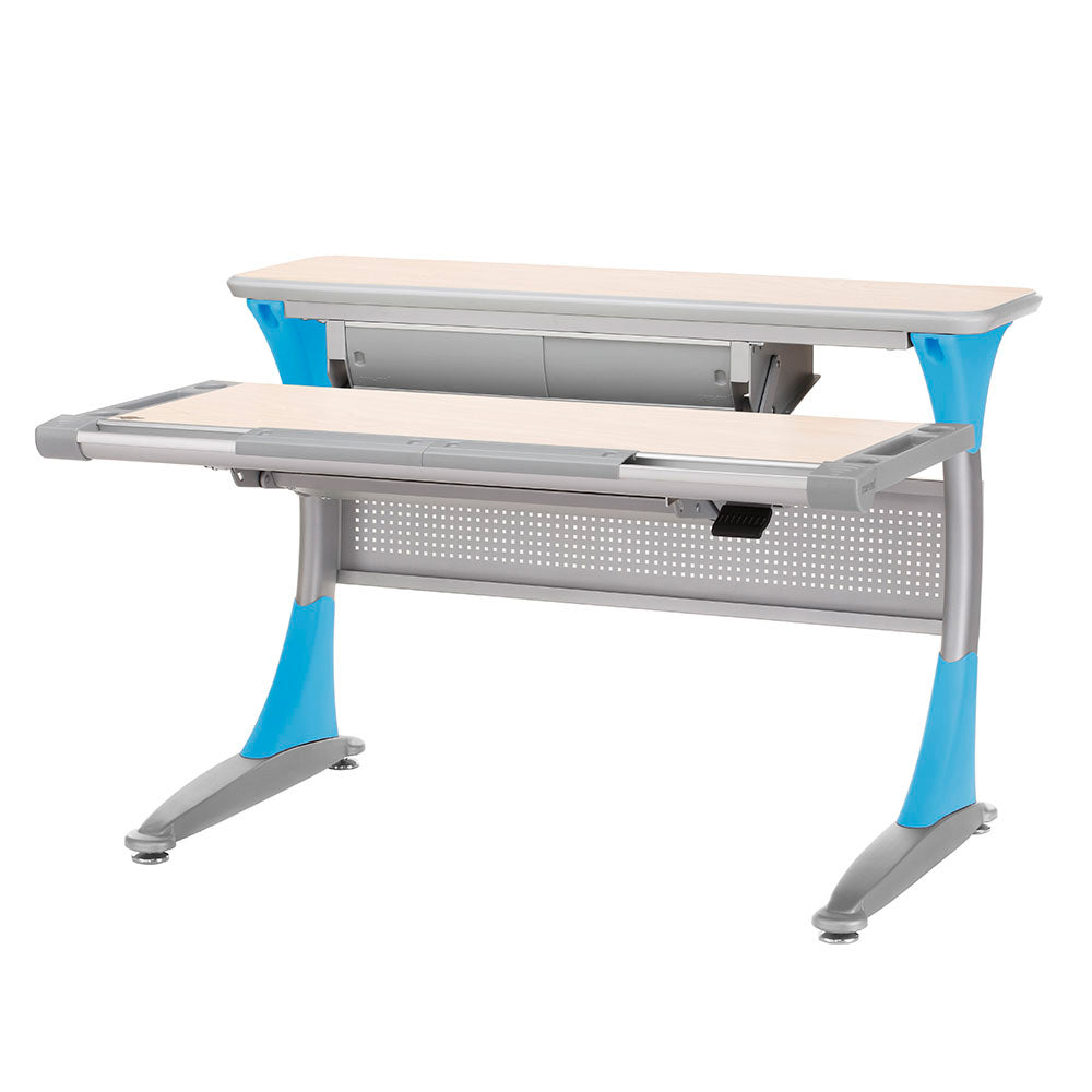 Ergo-Smart Desk Maple Blue