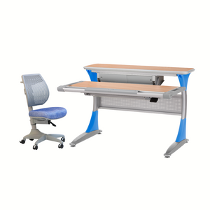 Ergo-Smart Desk Maple Blue + Speed Ultra Chair Blue Jeans
