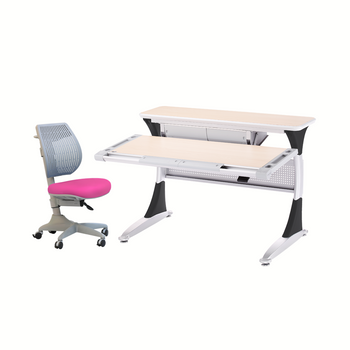 Ergo-Smart Desk Maple Black + Speed Ultra Chair Pink